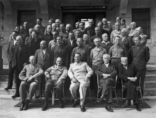 Высокопоставленные нацистские чиновники и военные офицеры в отеле Палас, г. Мондорф.